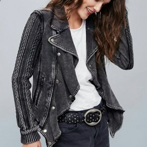 [Free People] Moto Jacket Knit